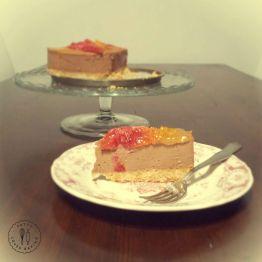 Chocolate & orange cheesecake