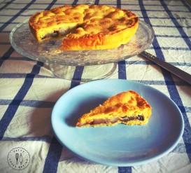 Crostata con pere,cacao, nocciole e cannella